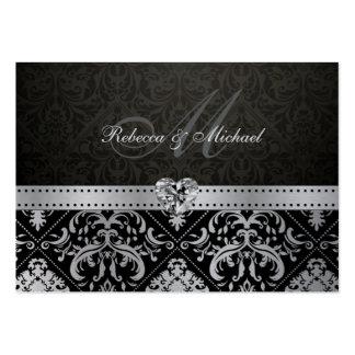 Plata metalizada superior y tarjeta negra de RSVP Tarjetas De Visita Grandes