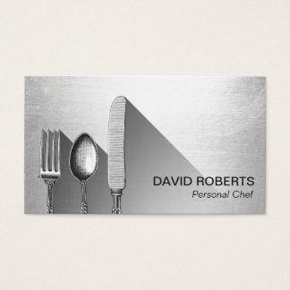 Plata moderna del cocinero del servicio personal tarjeta de negocios
