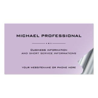 Plata profesional moderna de la violeta de la tarjetas de visita