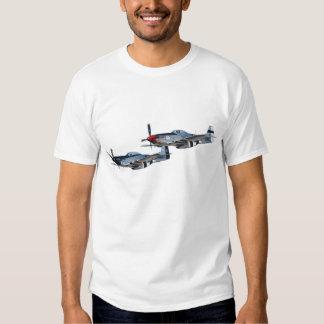 Plata rápida de los mustangos P-51 y galón Camisetas