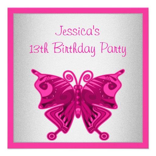 Plata rosada brillante de la mariposa del décimote comunicados personalizados