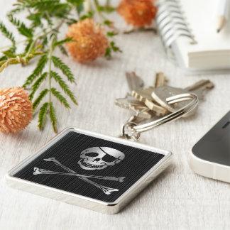 Plata tribal y negro del pirata llaveros personalizados