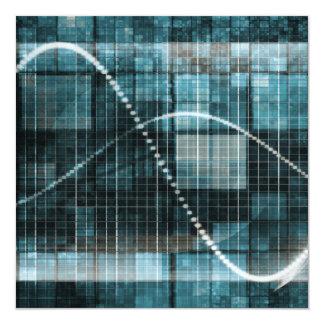 Plataforma de la gestión de datos o concepto de la invitación 13,3 cm x 13,3cm