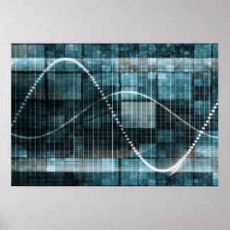 Plataforma de la gestión de datos o concepto de la póster