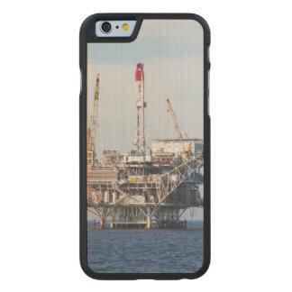 Plataforma petrolera funda de arce para iPhone 6 de carved