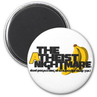 Plátano ateo imán redondo 5 cm