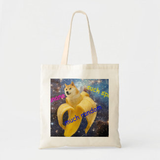 plátano   - dux - shibe - espacio - guau dux bolso de tela