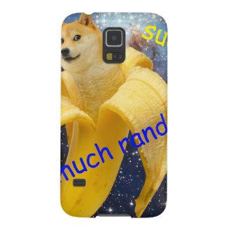 plátano   - dux - shibe - espacio - guau dux funda para galaxy s5
