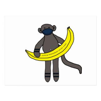 Plátanos que van sobre usted postal