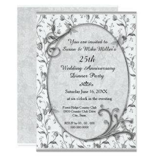 Platee la 25ta invitación de la fiesta de