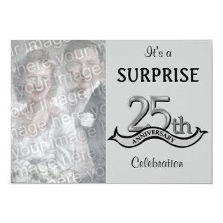 Platee (las 25tas) invitaciones de la fiesta de invitación 12,7 x 17,8 cm