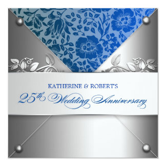 platee los 25tos ivnitations del aniversario de invitación 13,3 cm x 13,3cm