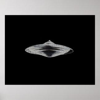Platillo volante marciano MCC-4890 Lightspeedster  Póster