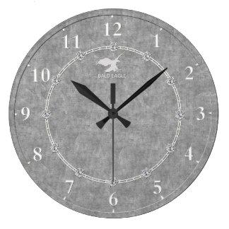 Platino real 3 adornados modernos una venta del reloj redondo grande