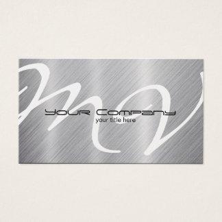Platino/tarjetas de visita de aluminio de la tarjeta de negocios