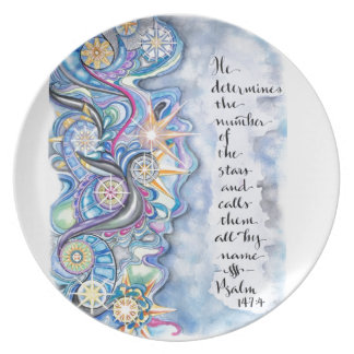 Plato 147:4 del salmo él llama las estrellas por nombre