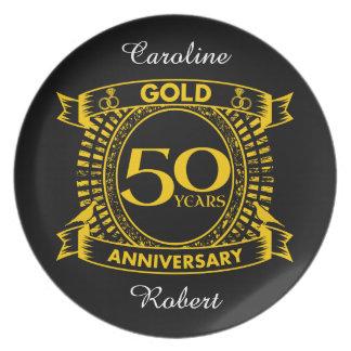 Plato 50.o Aniversario de boda del oro