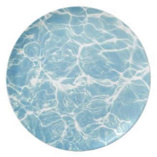 Plato Agua de la piscina, piscina, nadada, verano