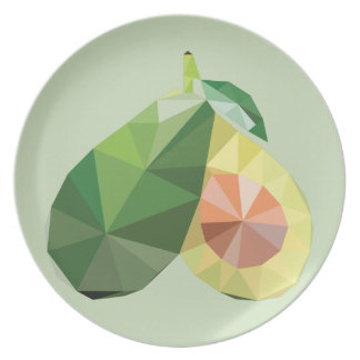 Plato Aguacate geométrico