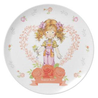 Plato Albaricoque de la placa #2 de la porcelana de