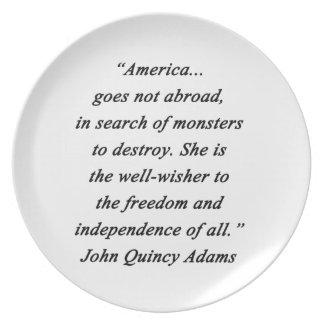Plato América en el extranjero - Juan Q Adams