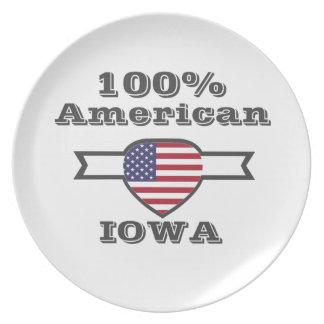 Plato Americano del 100%, Iowa