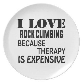 Plato Amo la escalada porque la terapia es costosa