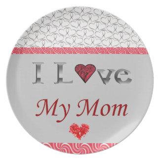 "Plato ""Amo placa cobrable de mi mamá"""