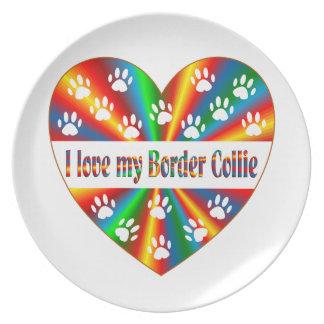 Plato Amor del border collie