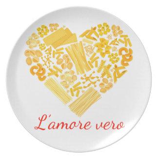 Plato Amor verdadero - disco italiano de las pastas