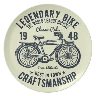 Plato Artesanía legendaria de la bici de la bicicleta