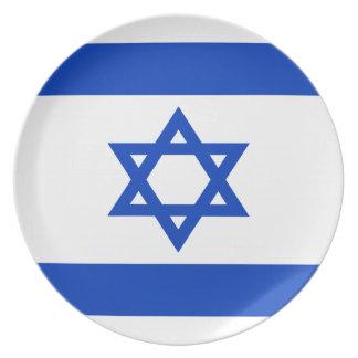 Plato ¡Bajo costo! Bandera de Israel