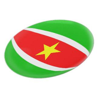 Plato Bandera de Suriname