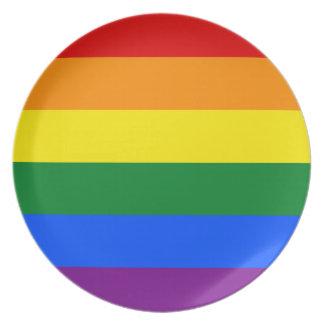 Plato Bandera del arco iris
