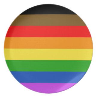 Plato Bandera del orgullo de Philadelphia