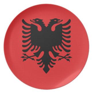 Plato Bandera nacional del mundo de Albania