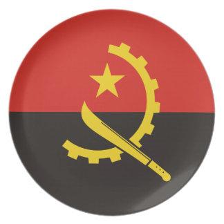 Plato Bandera nacional del mundo de Angola