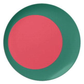 Plato Bandera nacional del mundo de Bangladesh