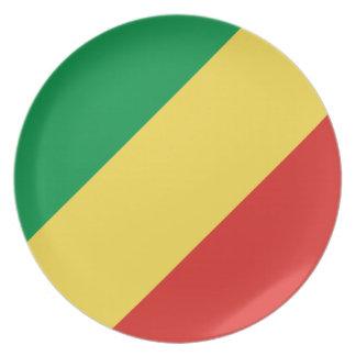Plato Bandera nacional del mundo de Congo