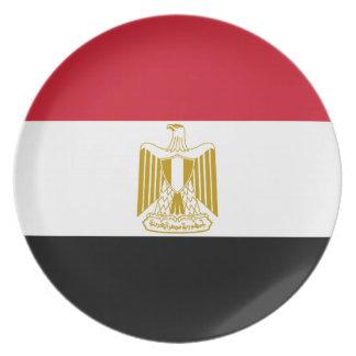 Plato Bandera nacional del mundo de Egipto