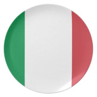Plato Bandera nacional del mundo de Italia
