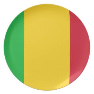 Plato Bandera nacional del mundo de Malí