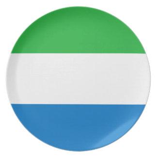 Plato Bandera nacional del mundo del Sierra Leone