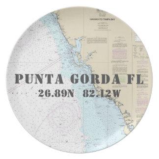 Plato Barco náutico de Punta Gorda FL de la longitud de