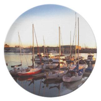 Plato Barcos en puerto deportivo en Oakland, CA