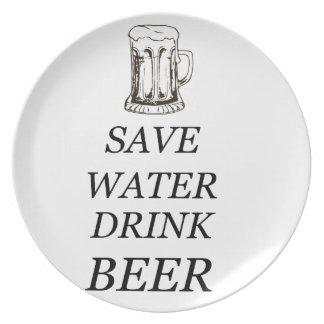 Plato Bebida de la comida de la cerveza