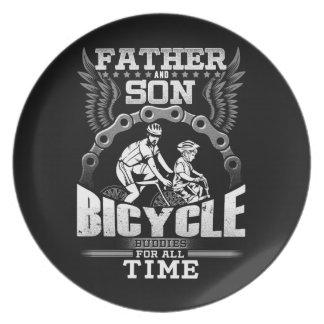 Plato Bicicleta del hijo del padre