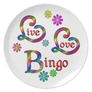 Plato Bingo vivo del amor