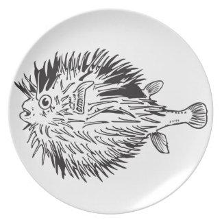 Plato Blowfish del Porcupinefish aka