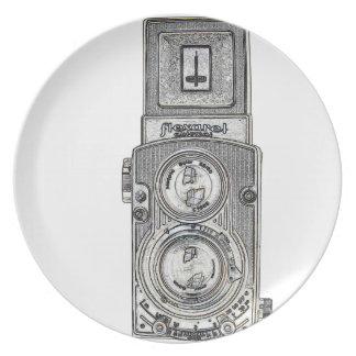 Plato cámara gemela del reflejo TLR